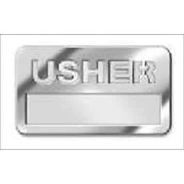 B & H Publishing Group Badge Usher Silver With Cut Out Small( ANCRD44391)