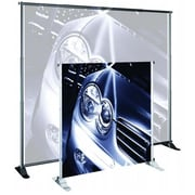 Testrite Visual Products Grand Format Banner Stands 48 in.-96 in. Large Banner Stand- Silver (TTVSP037)