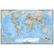 National Geographic Maps World Classic Poster Size Laminated (NAGGR028)
