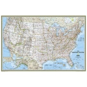 National Geographic Maps United States Classic Poster Size Laminated (NAGGR031)