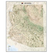 National Geographic Maps Arizona State Wall Map Laminated (NAGGR042)