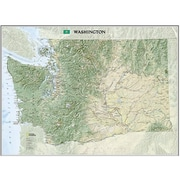 National Geographic Maps Washington State Wall Map Laminated (NAGGR060)