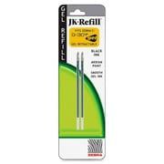 Zebra Pen Corp. Refill for G301 Gel Rollerball Pens, Medium Point, 2/Pack, Black Ink( AZERTY22266)