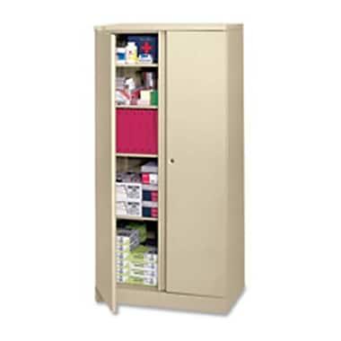 Basyx Storage Cabinet- 5-Shelf Locking- 36in.x18in.x72in.- Putty (SPRCH28672)
