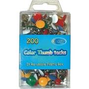 DDI Color Thumbtacks 200 count Case Of 48( DLRDY240154)
