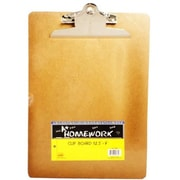 A+Homework Hardboard Clipboard - 9 in. x 12.5 in. - Letter Size - Case of 48 (DLRDY198730)