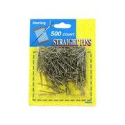 "Bulk Buys 15/16"" Long Silver Steel 500 Straight Pins - Pack of 24( KOLIM12755)"