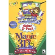 InfoGrames 38506 Crayola Make a Masterpiece - 3D Coloring Book Value 2-Pack( XS38506)