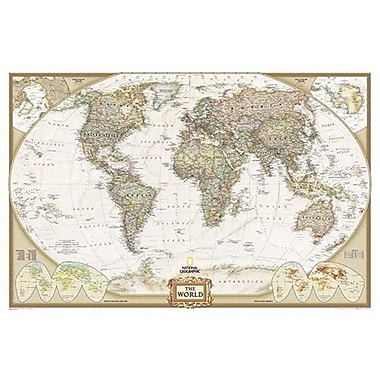 National Geographic Maps World Executive Poster Size Laminated( NAGGR025)
