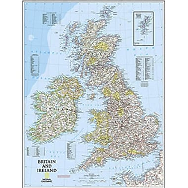National Geographic Maps Britain and Ireland Executive( NAGGR079)