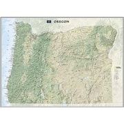 National Geographic Maps Oregon State Wall Map Laminated( NAGGR051)