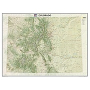 National Geographic Maps Colorado State Wall Map Laminated( NAGGR045)