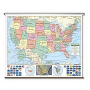 Universal Map US Primary Wall Map-Roller( UNIVM317)