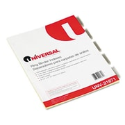 Universal Insertable Index Clear Tabs Five-Tab Letter Buff Six Sets per Pack (AZRUNV21871)