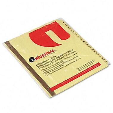 Universal Plastic-Coated Tab Dividers 25 Alphabet Tabs Letter Buff 25 per Set (AZRUNV20812)