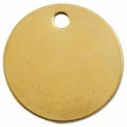 C.H. Hanson 1 in. Dia x 0.19 in. Hole Round Brass Blank Tag (ORSNO102982)