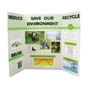 Elmerft.s Products Inc Single Ply Display Board- Corrugated- 36in.x48in.- White (SPRCH24385)