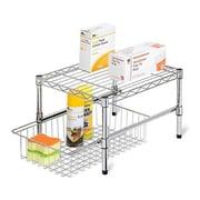 Honey-Can-Do cabinet organizer, Chrome (HNY922)