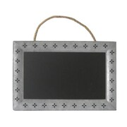 Cheungs Rattan Rectangular Chalk Board With Galvanized Metal Frame - Silver, Black - 14.25 in. ( CNGR640)