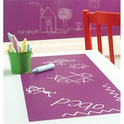 Wallies Wallcoverings 4-sheet Peel & Stick Chalkboard Grape (WLWC004)