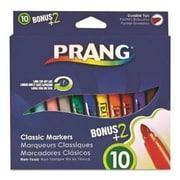 Dixon Ticonderoga Prang Classic Art Markers, Durable Tip, 12 Assorted Colors( AZTY04533)