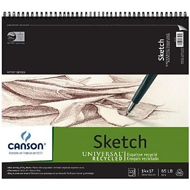 Canson 14 in. x 17 in. Recycled Sketch Sheet Pad (ALV33223)