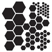 The Crafters Workshop 6 in. x 6 in. Design Template Hexagons (ALV26099)