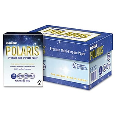 Boise POLARIS Copy Paper- 8 1/2 x 14- 20lb White- 5-000 Sheets/Carton( AZBOISPOL-8514)