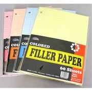 DDI Loose Colored Filler Paper - 60 Sheets - Wide Ruled Case Of 90( DLRDY247129)