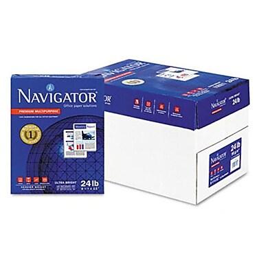 Navigator Premium Multipurpose Paper- 99 Brightness- 24lb- 8-1/2 x 11- White- 5000/Carton( AZNAVINMP1124)