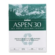 "Boise® Aspen™ 30% Recycled Office Paper, Letter, 92/104+ US/Euro Brightness, 20 Lb, 8 1/2""Hx11""W, 5,000 Sheets/Ct (AZBOIS054901)"