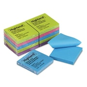 "Highland™ Notes, Original Pad, Assorted Colors, 3"" x 3"", 12/Pk"