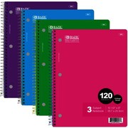 DDI BAZIC C-R 120 Ct. 3-Subject Spiral Notebook Case Of 24 (DLRDY249837)