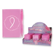 Bulk Buys Breast Cancer Awareness Notepad and Pen Set - Case of 72 (DLRDY223350)