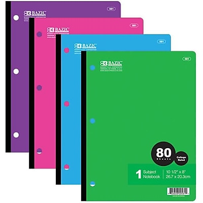 DDI BAZIC College Rule 80 Ct. Wireless Notebook Case Of 24 (DLRDY240769) 2598718