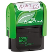 Consolidated Stamp 2000 Plus Green Line Message Stamp, Paid - Red (AZTY03606)