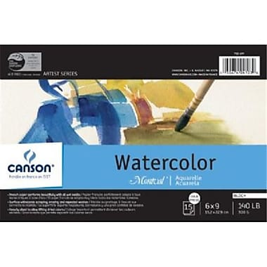 Canson 4 in. x 6 in. Watercolor Cold Press Block 140lb-300g - Pack of 6( ALV34569)