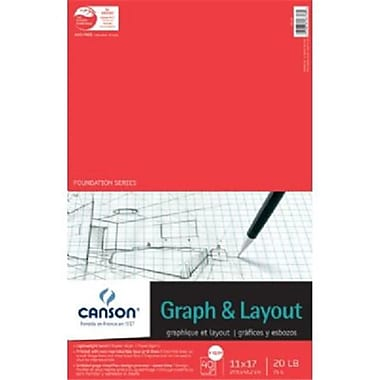 Canson 11 in. x 17 in. Graph and Layout Sheet Pad (ALV30955)