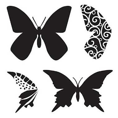 The Crafters Workshop 6 in. x 6 in. Design Template Butterfly (ALV26092)
