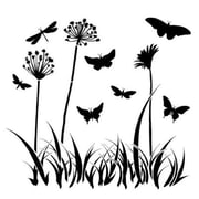 The Crafters Workshop 6 in. x 6 in. Design Template Butterfly Meadow (ALV26093)