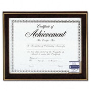 Dax Gold-Trimmed Document Frame with Certificate Wood 8-1/2 x 11 Mahogany (AZRDAXN2709N7T)