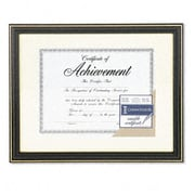 Dax Gold-Trimmed Document Frame with Certificate Wood 11 x 14 Black (AZRDAXN2709S6T)