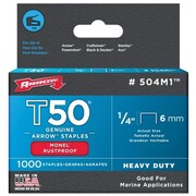 Arrow Fastener Co. .25in. T50 Monel Staples( JNSN32593)