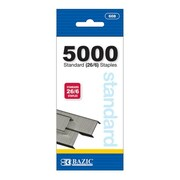 Bazic 5000 Ct Standard 26 6 Staples  Pack of 24( BAZC1303) by