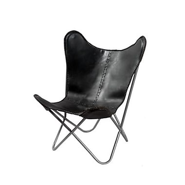 FASHION N YOU White Leather Butterfly Chair( HRZNI161)