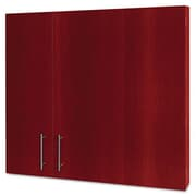BVC MasterVision 3-in-1 Magnetic Platinum Plus Dry Erase Conference Cabinet - Cherry (BSVC1826)