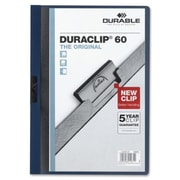 Durable Office Products DuraClip Report Cover 60 Sheet Capacity 11 in. x 8.5 in. Navy (SPRCH30933)