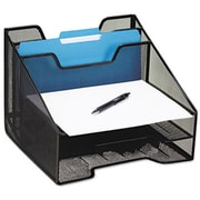 Eldon Office Products Combination Sorter, Five Sections, Mesh, 12 1/2 x 11 1/2 x 9 1/2, Black (AZERTY21244)