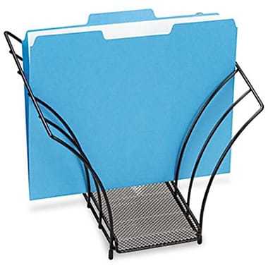 Eldon Office Products Butterfly File Sorter, Five Sections, Mesh, 12 1/4 x 7 3/4 x 10 1/8, Black (AZERTY21246)