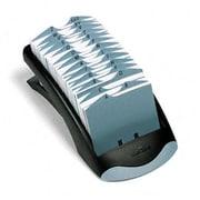 Durable TELINDEX Desk Address Card File Holds 500 4-1/8 x 2-7/8 Cards Graphite/Black (AZRDBL241201)